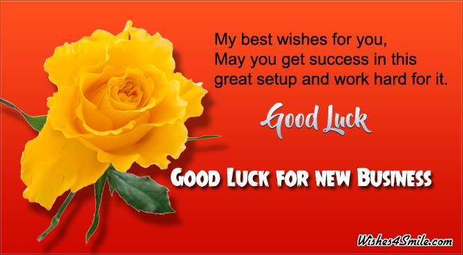 Good luck messages for new business