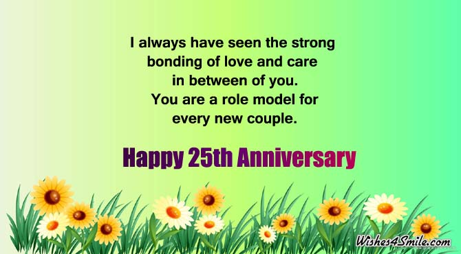 25th Anniversary Wishes for Uncle and Aunty