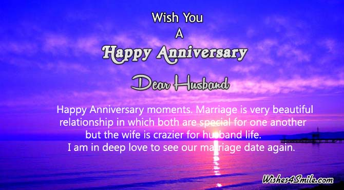 Wedding Anniversary Message For Husband