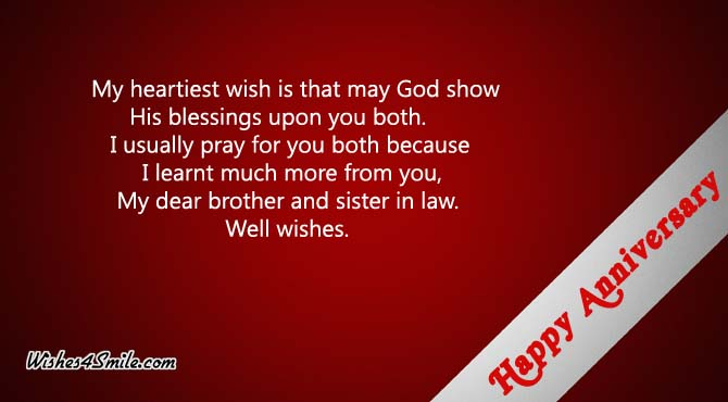 Wedding Anniversary Gift For Brother In Law : Wedding Anniversary Wishes for Brother Wishes4Smile